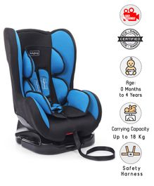 Babyhug Cruise Convertible Reclining Car Seat With Side Impact Protection - Blue & Black