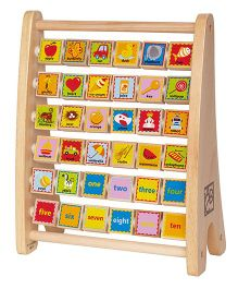 Hape Double Sided Alphabet Abacus - Multicolour