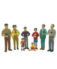 Miniland Asian Family Figures Multicolor - Pack of 8