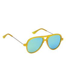 Spiky Classic Aviator Kids Sunglasses - Yellow