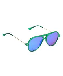 Spiky Classic Aviator Kids Sunglasses - Green