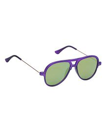 Spiky Classic Aviator Kids Sunglasses - Purple