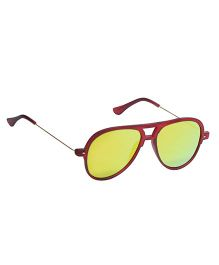 Spiky Classic Aviator Kids Sunglasses - Red