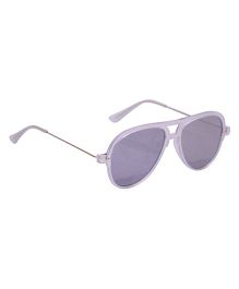 Spiky Classic Aviator Kids Sunglasses - Silver