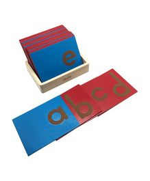 Skola Sandpaper Letters Lower Case - 26 Wooden Cards