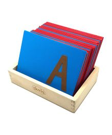 Skola Sandpaper Letters Upper Case - 26 Wooden Cards