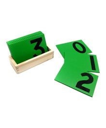 Skola Sandpaper Numbers Educational Cards - Green