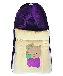My Newborn 4 in 1 Zipper Sleeping Bag Kitty Patch - Purple