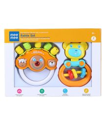 Mee Mee Cute Companion Rattle Set of 2 (Color May Vary)