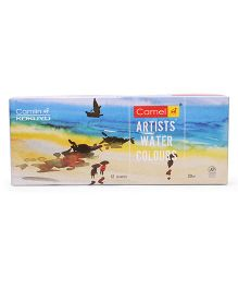 Kokuyo Camlin Camel Artist's Water Color 12 Shades Multi Color - 20 ml each