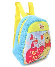 Winnie the Pooh & Friends Plush Bag Blue Yellow - 12 Inches