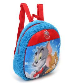 Tom & Jerry Plush Bag Blue Red - Height 12 inches