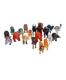 VibgyorVibes Tiny Size Wild Animals Figure Pack Of 20 - Multicolor