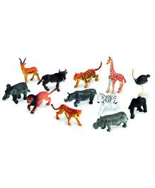 VibgyorVibes Wild Animals Figure Pack Of 12 - Multicolor (Animals May Vary)