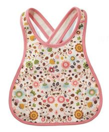 Little Hip Boutique Floral Cross Back Baby Bib - Pink