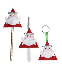 Li'll Pumpkins Reindeer Set 3 Pencil Topper Book Mark & Key Chain - Red