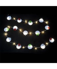 Li'll Pumpkins Circle With Star Lights - White