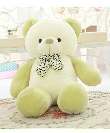 Skylofts Giant Stuffed Teddy Bear With Bow Off White Green - Height 80 cm