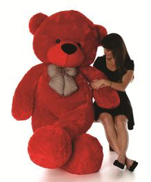 Skylofts Giant Teddy Bear Soft Toy 5.9 Feet Red - Height 180 cm