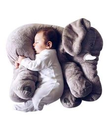 Skylofts Soft Stuffed Elephant Shaped Pillow Cover Toy Grey -  Height 65 cm
