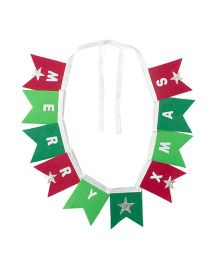 Li'll Pumpkins Multi Square Buntings - Red & Green