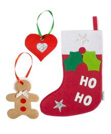 Li'll Pumpkins Ho Ho Socks Socks & 2 Gift Tags - Multicolour