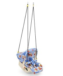Infanto 7 In 1 Swing Bouncer Teddy Print - Blue