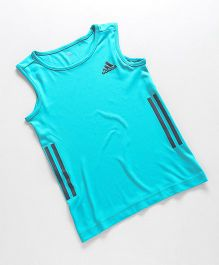 Adidas Sleeveless T-Shirt With Logo - Blue