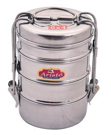 Aristo Stainless Steel Lunch Box Silver - 370 ml