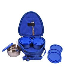 Aristo Mini Lunch Box Set of 3 With Insulated Bag - Blue