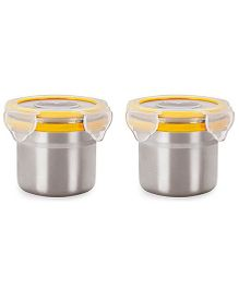 Steel Lock Airtight Food Storage Containers Set of 2 - 180 ml each (Color May Vary)