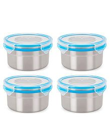 Steel Lock Airtight Food Storage Containers Set of 4 - 500 ml each (Color May Vary)