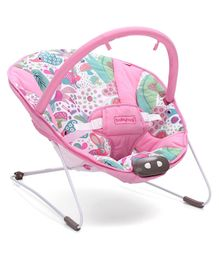 Babyhug Comfy Bouncer Babyhug Comfy Bouncer With Music & Calming Vibrations Jungle Print - Pink