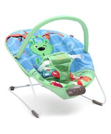 Babyhug Comfy Bouncer Babyhug Comfy Bouncer With Music & Calming Vibrations Animal Print - Blue Green