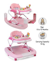 Babyhug Little Footsteps Walker Cum Rocker With 2 Level Height Adjustment - Pink