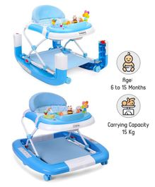 Babyhug Little Footsteps Walker Cum Rocker With 2 Level Height Adjustment - Blue