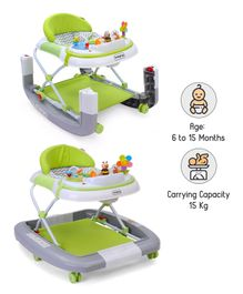 Babyhug Little Footsteps Walker Cum Rocker With 2 Level Height Adjustment - Grey