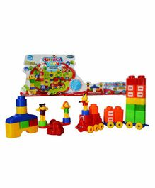 Planet of Toys Animal Park Funny Building Blocks Set - 51 Blocks