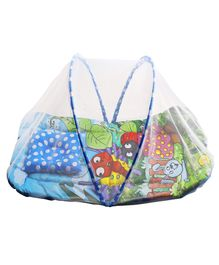 Playhood Baby Bedding With Mosquito Net & Toys - Blue