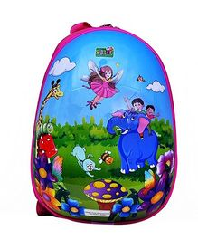 Playhood School Bag Printed Blue - 11 Inches