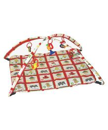 Playhood Baby Playgym With Mosquito Net & Toys - Multi Color