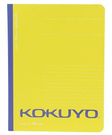 Kokuyo Single Line Notebook Yellow - 120 Pages