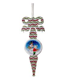 Funcart Glitter Snowman Hanging Decoration For Christmas - Multicolor