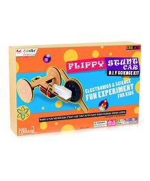 Be Cre8v Flippy Stunt Car DIY Science Kit - Multicolour