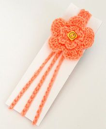 Love Crochet Art Handmade Flower Design Headband - Peach