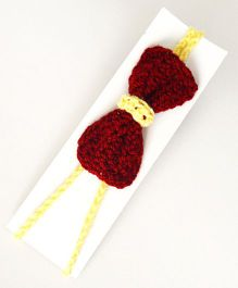 Love Crochet Art Handmade Bow Design Headband - Red
