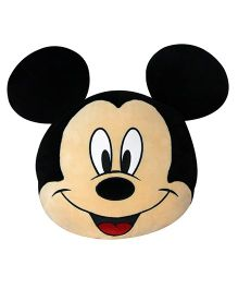 Disney Mickey Mouse Face Shape Cushion - Black