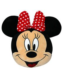 Disney Minnie Mouse Face Shape Cushion - Red & Black