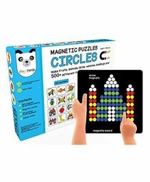 Play Panda Magnetic Puzzle Circles Multicolor - 200 Puzzles