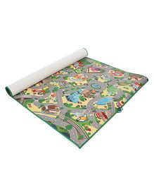 Unimats Play Mat City Map Print - Multi Colour